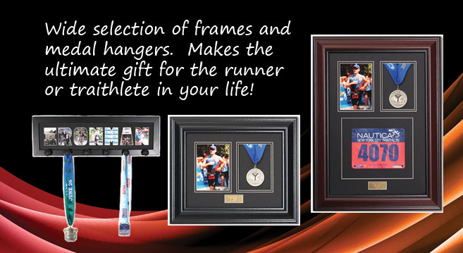Marathon Photo and Medal Display Frame and Hangers
